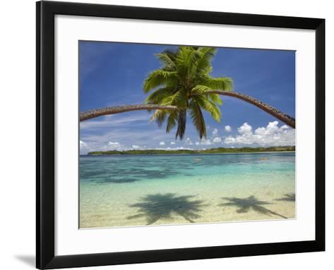 Palm Trees, Shangri-La Fijian Resort, Yanuca Island, Coral Coast, Viti Levu, Fiji, South Pacific-David Wall-Framed Art Print