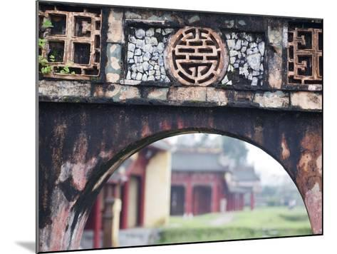 Carved Arch Inside the Imperial Palace, in Hue, Vietnam-David H^ Wells-Mounted Photographic Print