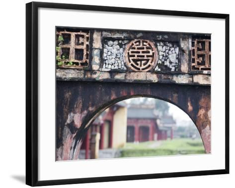 Carved Arch Inside the Imperial Palace, in Hue, Vietnam-David H^ Wells-Framed Art Print