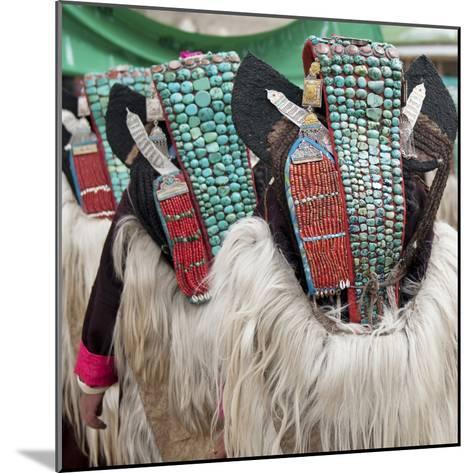 Married Ladakhi Women with Perak, Ladakh, India-Jaina Mishra-Mounted Photographic Print