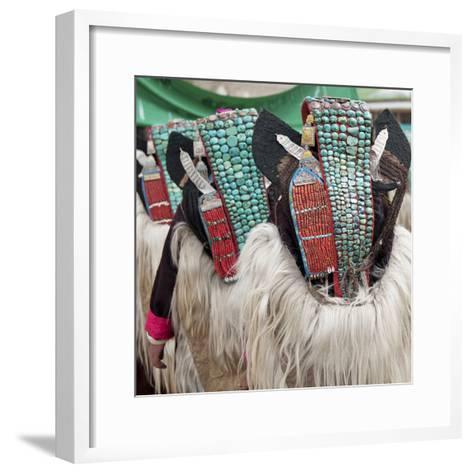 Married Ladakhi Women with Perak, Ladakh, India-Jaina Mishra-Framed Art Print
