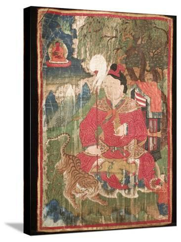 Thangkas, or Scrolls, Chemrey Monastery, Ladakh, India-Jaina Mishra-Stretched Canvas Print