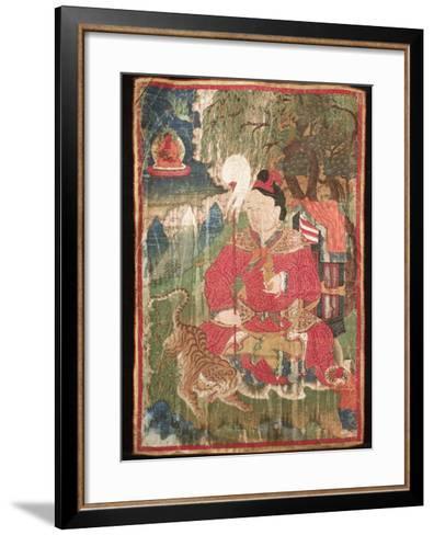 Thangkas, or Scrolls, Chemrey Monastery, Ladakh, India-Jaina Mishra-Framed Art Print