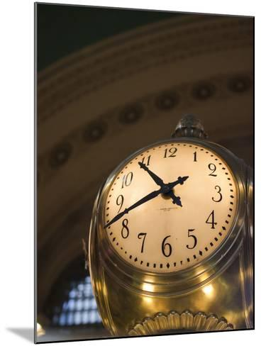 An Illuminated Clock in Grand Central Station, New York, New York, USA-David H^ Wells-Mounted Photographic Print