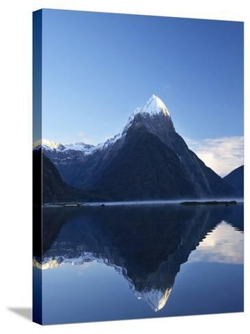 Early Light on Mitre Peak, Milford Sound, Fiordland National Park, South Island, New Zealand-David Wall-Stretched Canvas Print