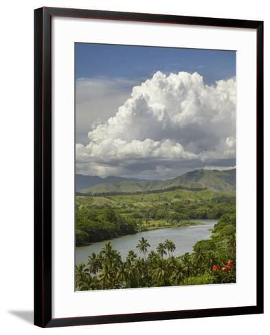 Sigatoka River, Lower Sigatoka Valley, Coral Coast, Viti Levu, Fiji, South Pacific-David Wall-Framed Art Print