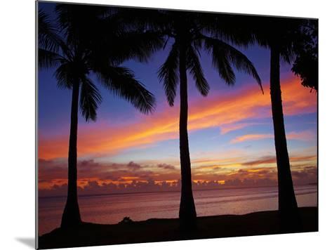 Sunset and Palm Trees, Coral Coast, Viti Levu, Fiji, South Pacific-David Wall-Mounted Photographic Print