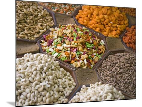 Selling Nuts and Dried Fruit at the Market, Dubai, United Arab Emirates-Keren Su-Mounted Photographic Print
