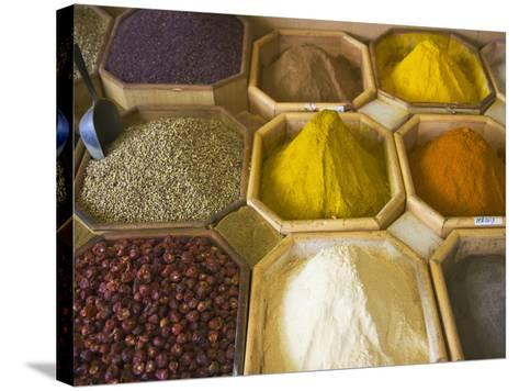 Selling Spices at the Market, Dubai, United Arab Emirates-Keren Su-Stretched Canvas Print