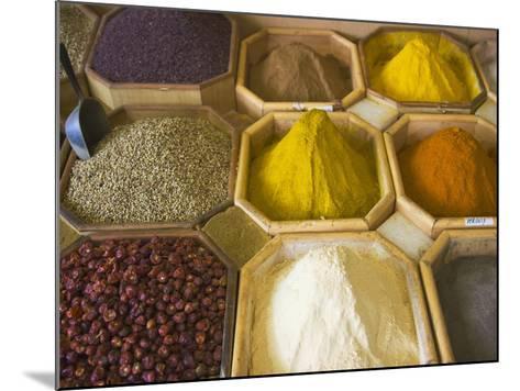 Selling Spices at the Market, Dubai, United Arab Emirates-Keren Su-Mounted Photographic Print