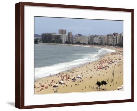 Copacabana Beach, Rio De Janiero, Brazil-Kymri Wilt-Framed Art Print