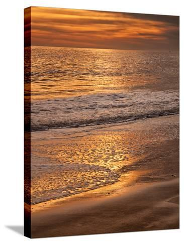 Sunset Reflection, Cape May, New Jersey, USA-Jay O'brien-Stretched Canvas Print