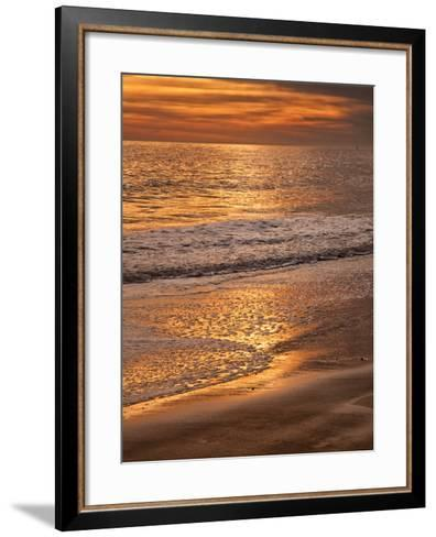 Sunset Reflection, Cape May, New Jersey, USA-Jay O'brien-Framed Art Print