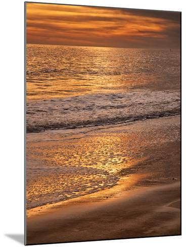 Sunset Reflection, Cape May, New Jersey, USA-Jay O'brien-Mounted Photographic Print