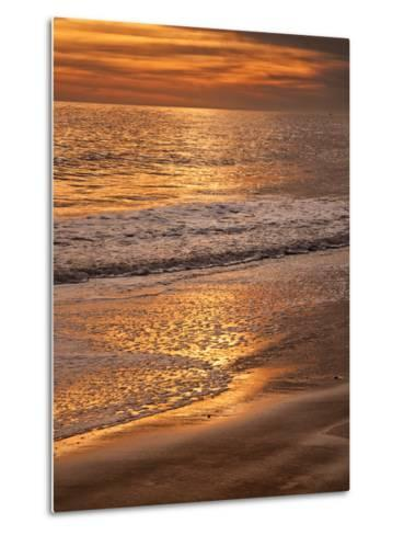Sunset Reflection, Cape May, New Jersey, USA-Jay O'brien-Metal Print