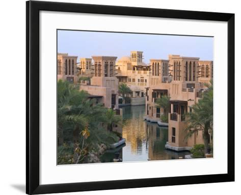 Traditional Wind Houses, Dubai, United Arab Emirates-Keren Su-Framed Art Print