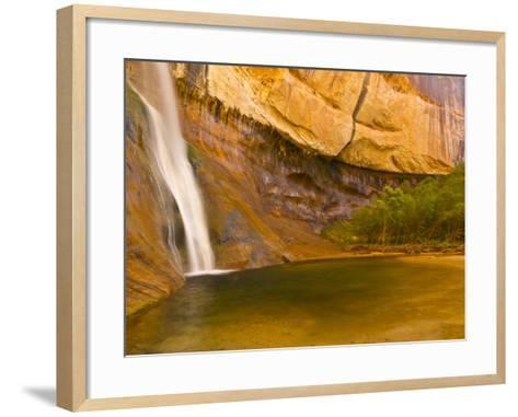 Waterfall, Grand Staircase Escalante National Monument, Utah, USA-Jay O'brien-Framed Art Print