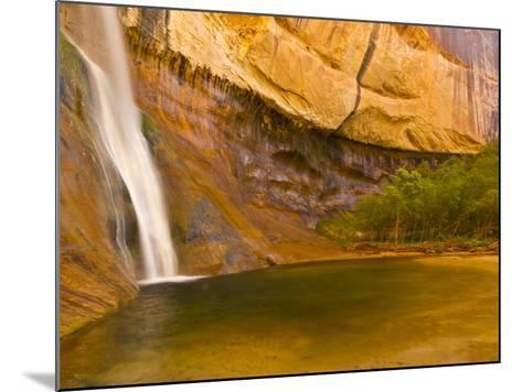 Waterfall, Grand Staircase Escalante National Monument, Utah, USA-Jay O'brien-Mounted Photographic Print