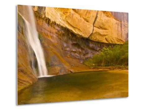 Waterfall, Grand Staircase Escalante National Monument, Utah, USA-Jay O'brien-Metal Print