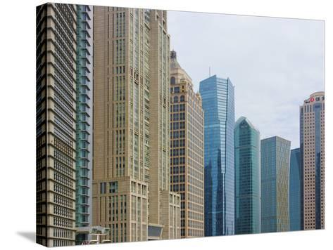 High Rises in Lujiazui Financial District, Pudong, Shanghai, China-Keren Su-Stretched Canvas Print