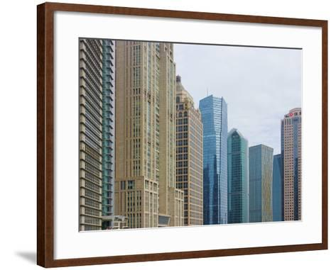 High Rises in Lujiazui Financial District, Pudong, Shanghai, China-Keren Su-Framed Art Print
