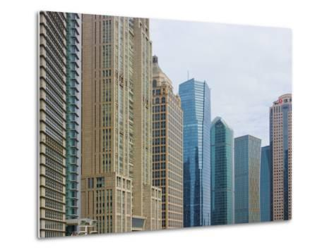 High Rises in Lujiazui Financial District, Pudong, Shanghai, China-Keren Su-Metal Print