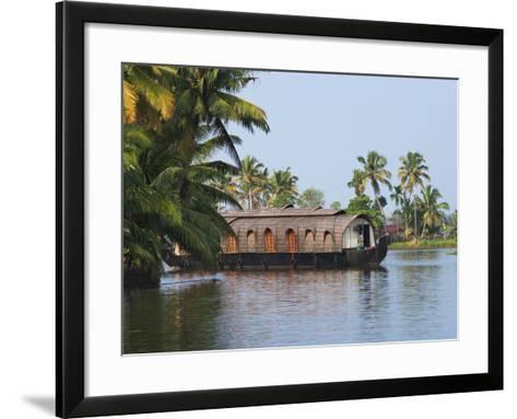 Houseboat on the Backwaters of Kerala, India-Keren Su-Framed Art Print