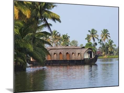 Houseboat on the Backwaters of Kerala, India-Keren Su-Mounted Photographic Print