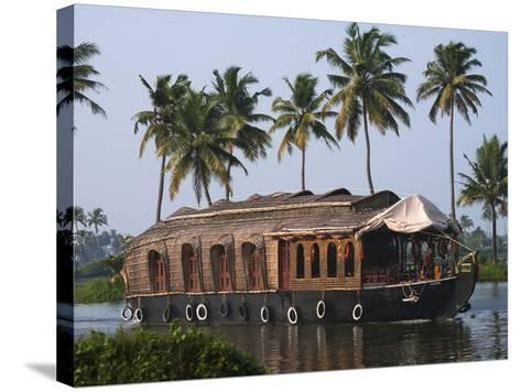 Houseboat on the Backwaters of Kerala, India-Keren Su-Stretched Canvas Print