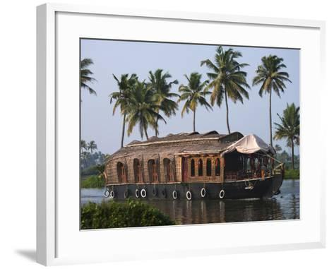 Houseboat on the Backwaters of Kerala, India-Keren Su-Framed Art Print