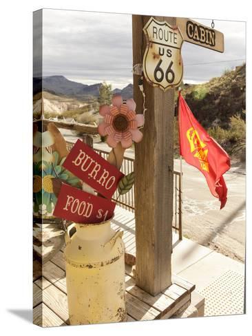Route 66, Oatman, Arizona, USA-Julian McRoberts-Stretched Canvas Print