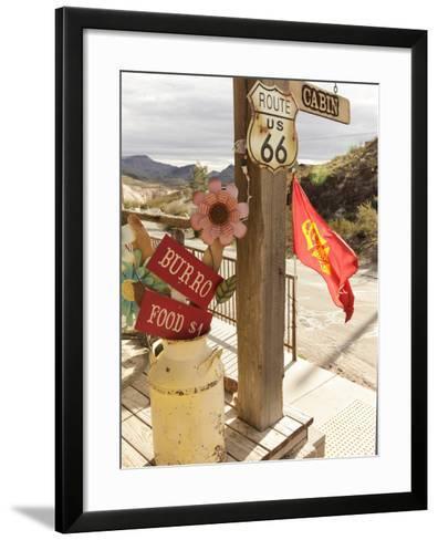 Route 66, Oatman, Arizona, USA-Julian McRoberts-Framed Art Print