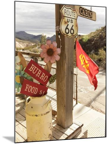 Route 66, Oatman, Arizona, USA-Julian McRoberts-Mounted Photographic Print