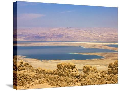 Masada Ruins, Dead Sea, Israel-Keren Su-Stretched Canvas Print