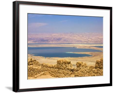 Masada Ruins, Dead Sea, Israel-Keren Su-Framed Art Print