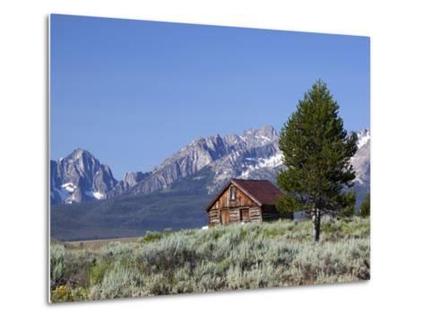 Old Barn, Sawtooth National Recreation Area, Idaho, USA-Jamie & Judy Wild-Metal Print