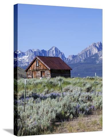 Old Barn, Sawtooth National Recreation Area, Idaho, USA-Jamie & Judy Wild-Stretched Canvas Print
