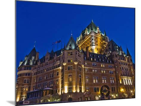 Night View of Chateau Frontenac Hotel, Quebec City, Canada-Keren Su-Mounted Photographic Print