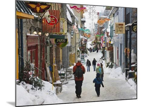 Old Houses Along the Street, Quebec City, Canada-Keren Su-Mounted Photographic Print