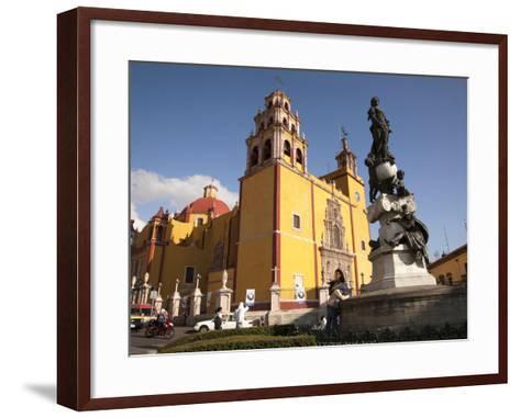 Cathedral of Guanajuato and Fountain, Guanajuato, Mexico-John & Lisa Merrill-Framed Art Print