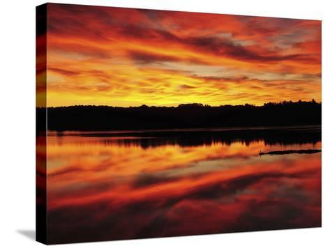 Sunrise on the New Meadows River, Brunswick, Maine, USA-Michel Hersen-Stretched Canvas Print