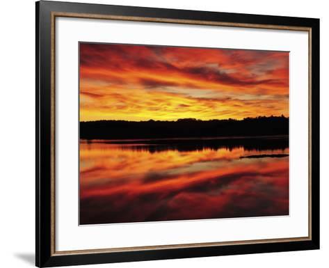 Sunrise on the New Meadows River, Brunswick, Maine, USA-Michel Hersen-Framed Art Print