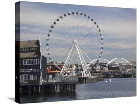 The Seattle Great Wheel, Seattle, Washington, USA-Jamie & Judy Wild-Stretched Canvas Print