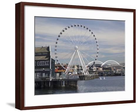 The Seattle Great Wheel, Seattle, Washington, USA-Jamie & Judy Wild-Framed Art Print