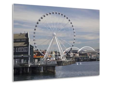 The Seattle Great Wheel, Seattle, Washington, USA-Jamie & Judy Wild-Metal Print