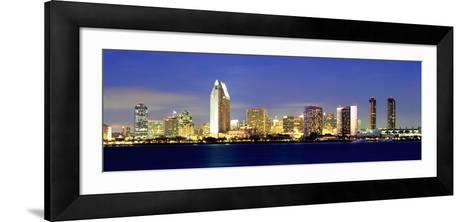 San Diego Skyline, California, USA-John Alves-Framed Art Print