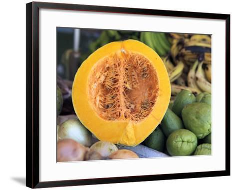 Fresh Vegetables and Fruits at the Local Market in St John's, Antigua, Caribbean-Kymri Wilt-Framed Art Print
