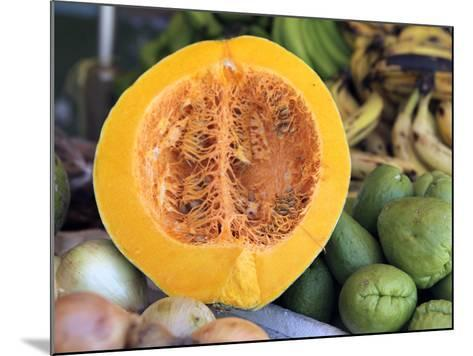 Fresh Vegetables and Fruits at the Local Market in St John's, Antigua, Caribbean-Kymri Wilt-Mounted Photographic Print