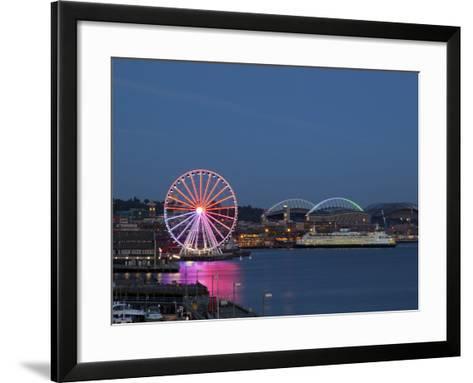 The Seattle Great Wheel, Seattle, Washington, USA-Jamie & Judy Wild-Framed Art Print