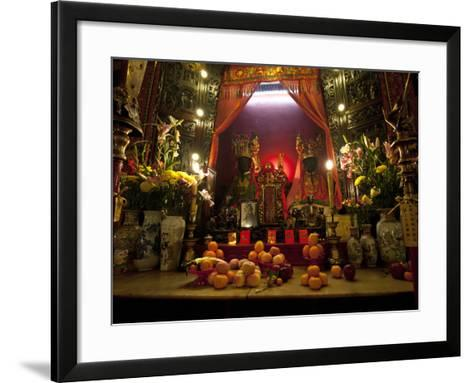 Man Mo Buddhist Temple, Hong Kong, China-Julie Eggers-Framed Art Print